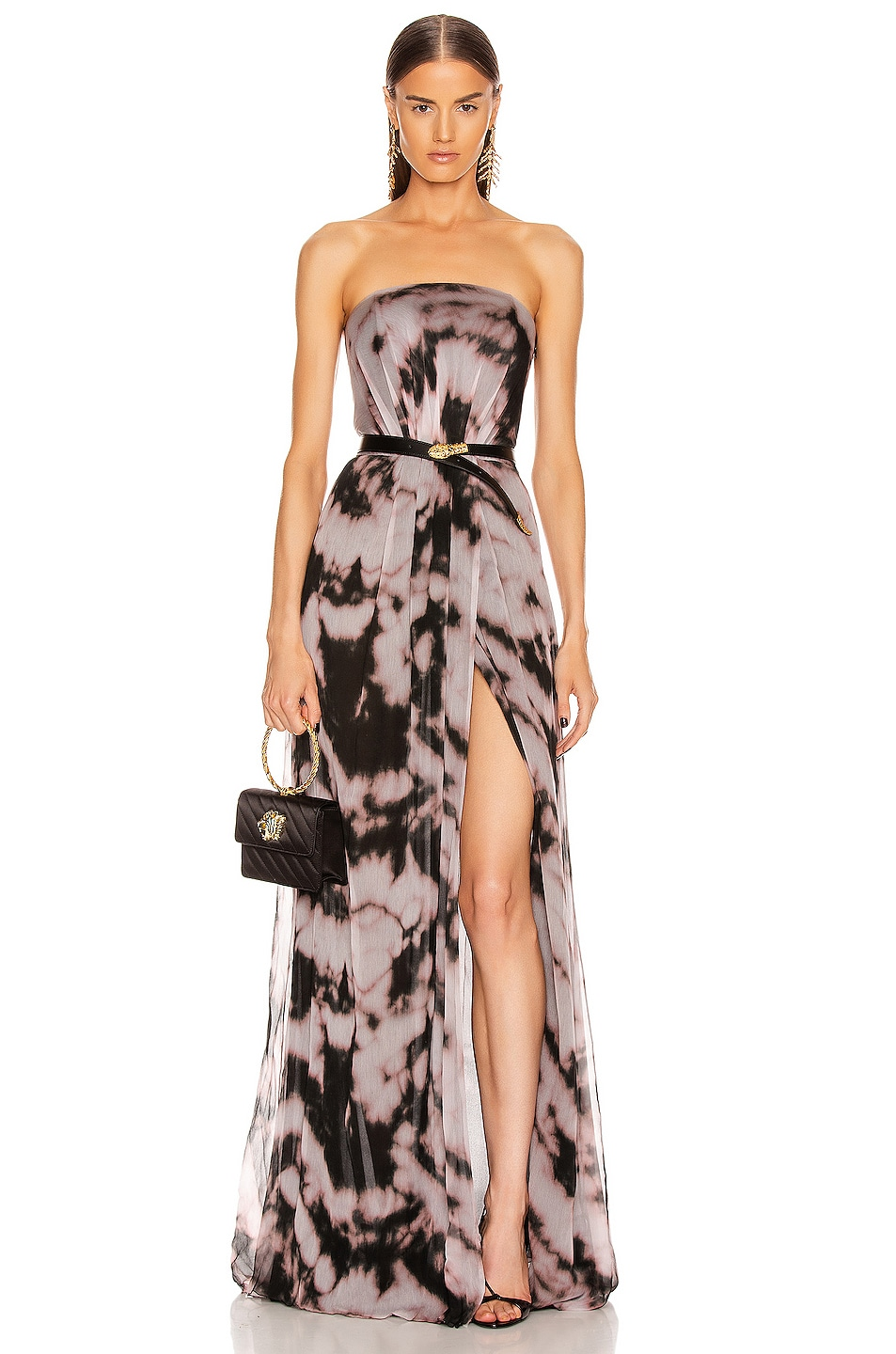 Image 1 of Redemption Strapless Dress in Rosa & Nero