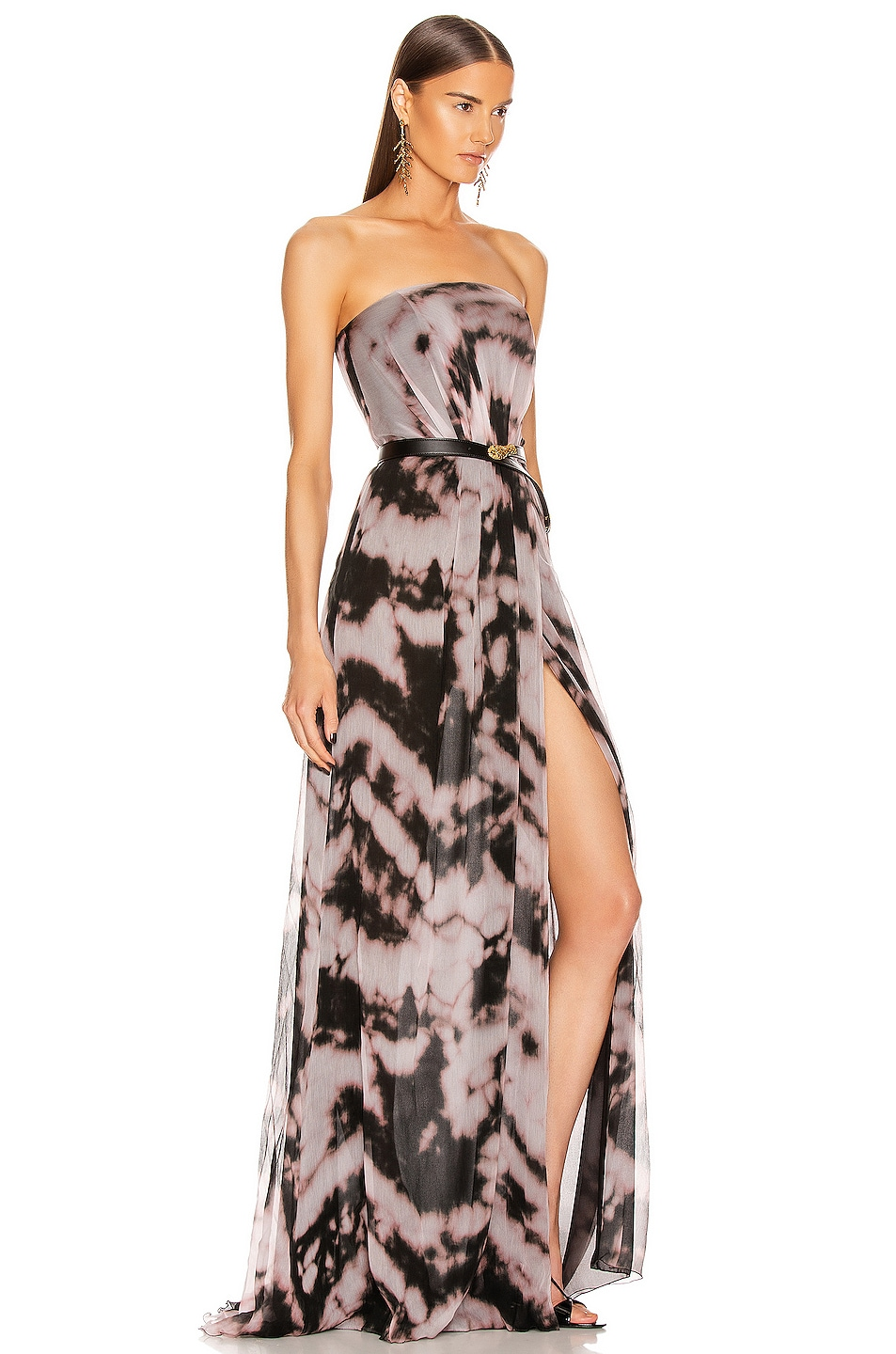 Image 2 of Redemption Strapless Dress in Rosa & Nero