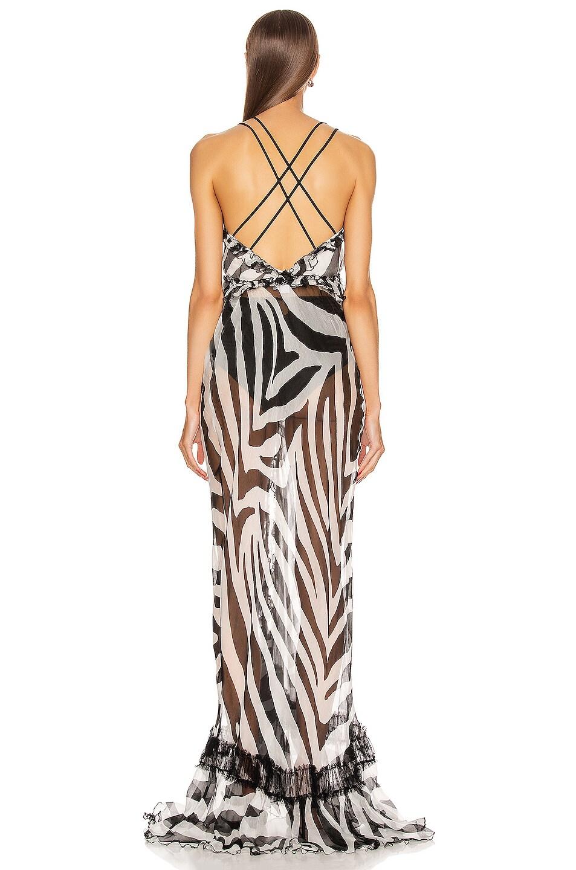 Image 3 of Redemption Long Dress in Zebra Black & White