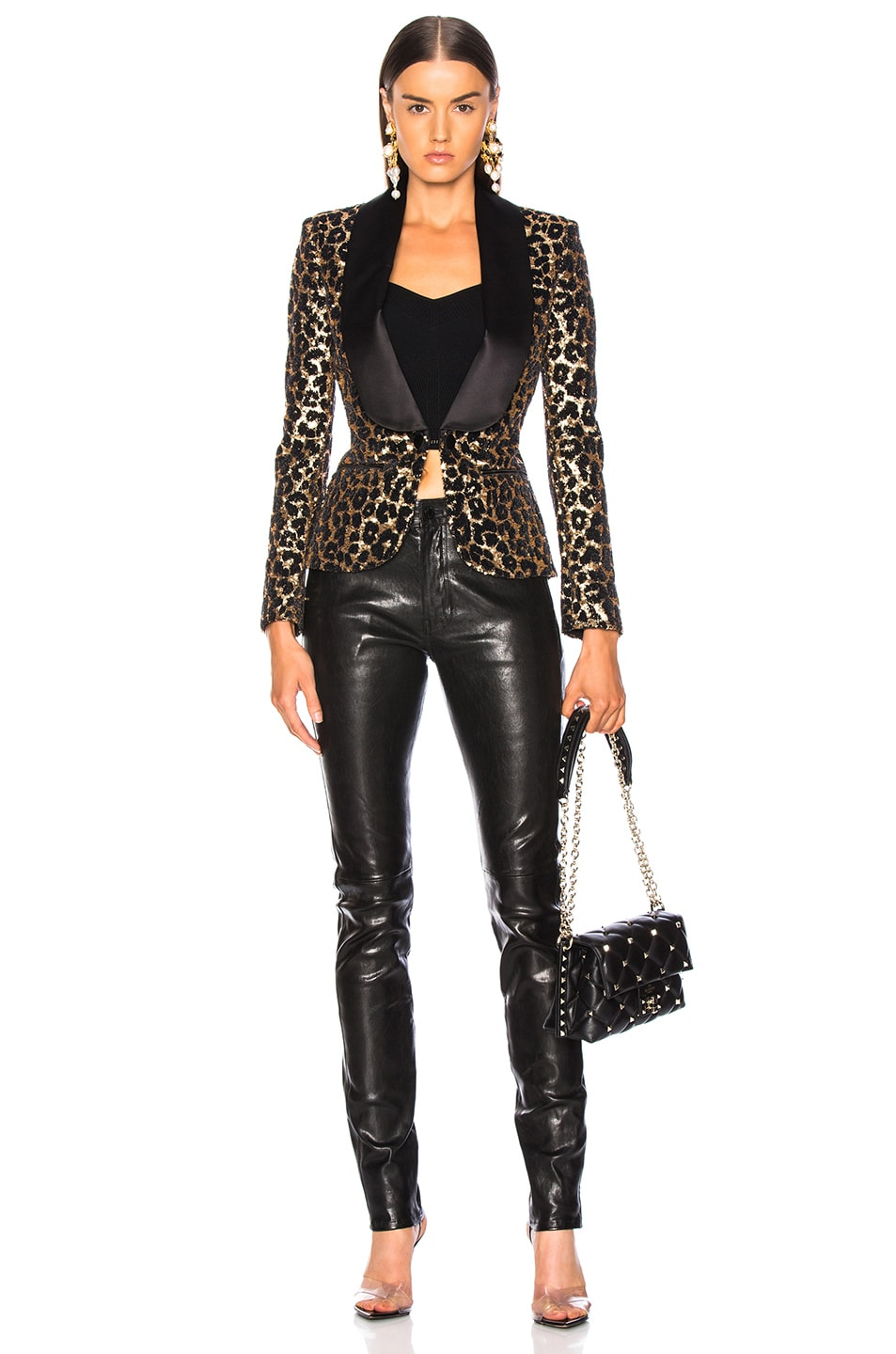 Image 5 of Redemption Printed Leopard Blazer in Gold