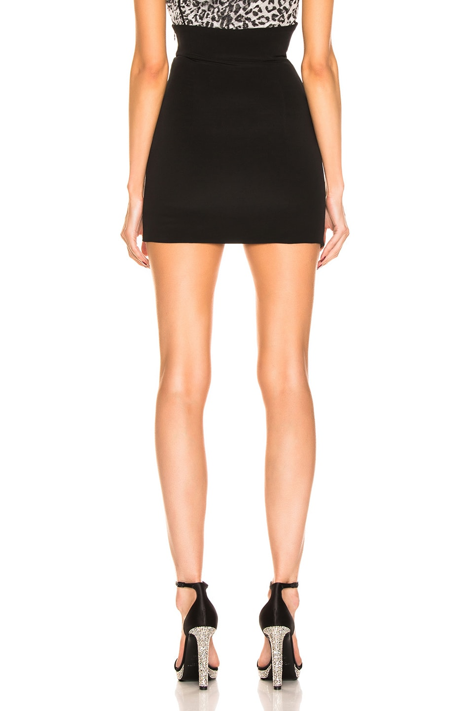 Image 4 of Redemption Asymmetric Buckle Skirt in Black