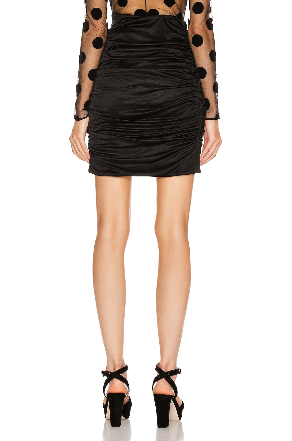 Image 3 of Redemption Draped Mini Skirt in Black
