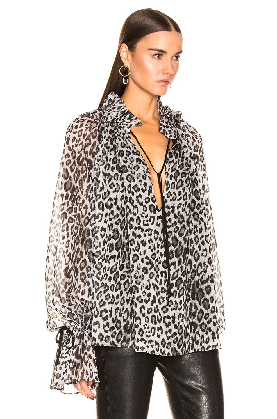 Image 2 of Redemption Loose Raglan Blouse in Leopard Print