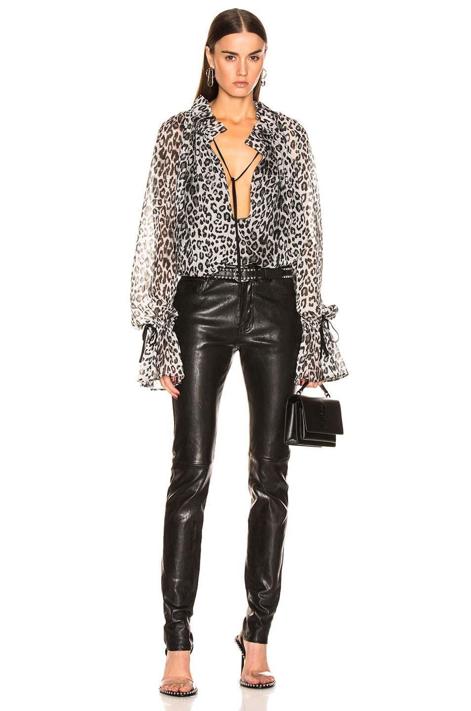 Image 4 of Redemption Loose Raglan Blouse in Leopard Print