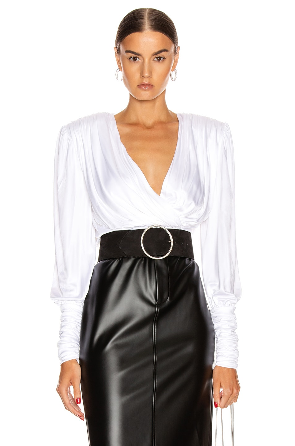 Image 1 of Redemption Draped Top in White