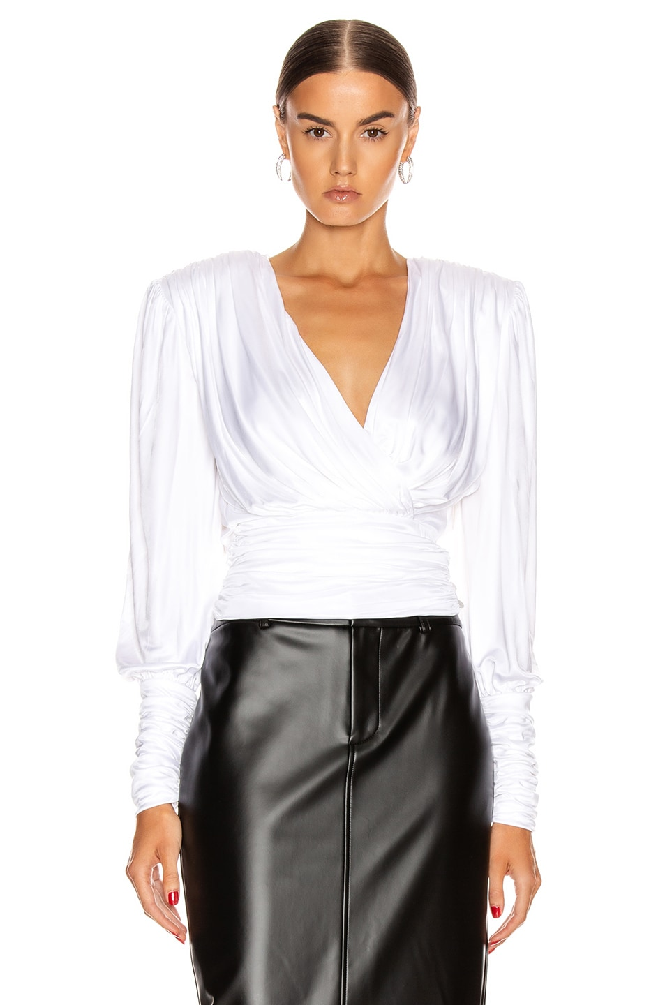 Image 2 of Redemption Draped Top in White
