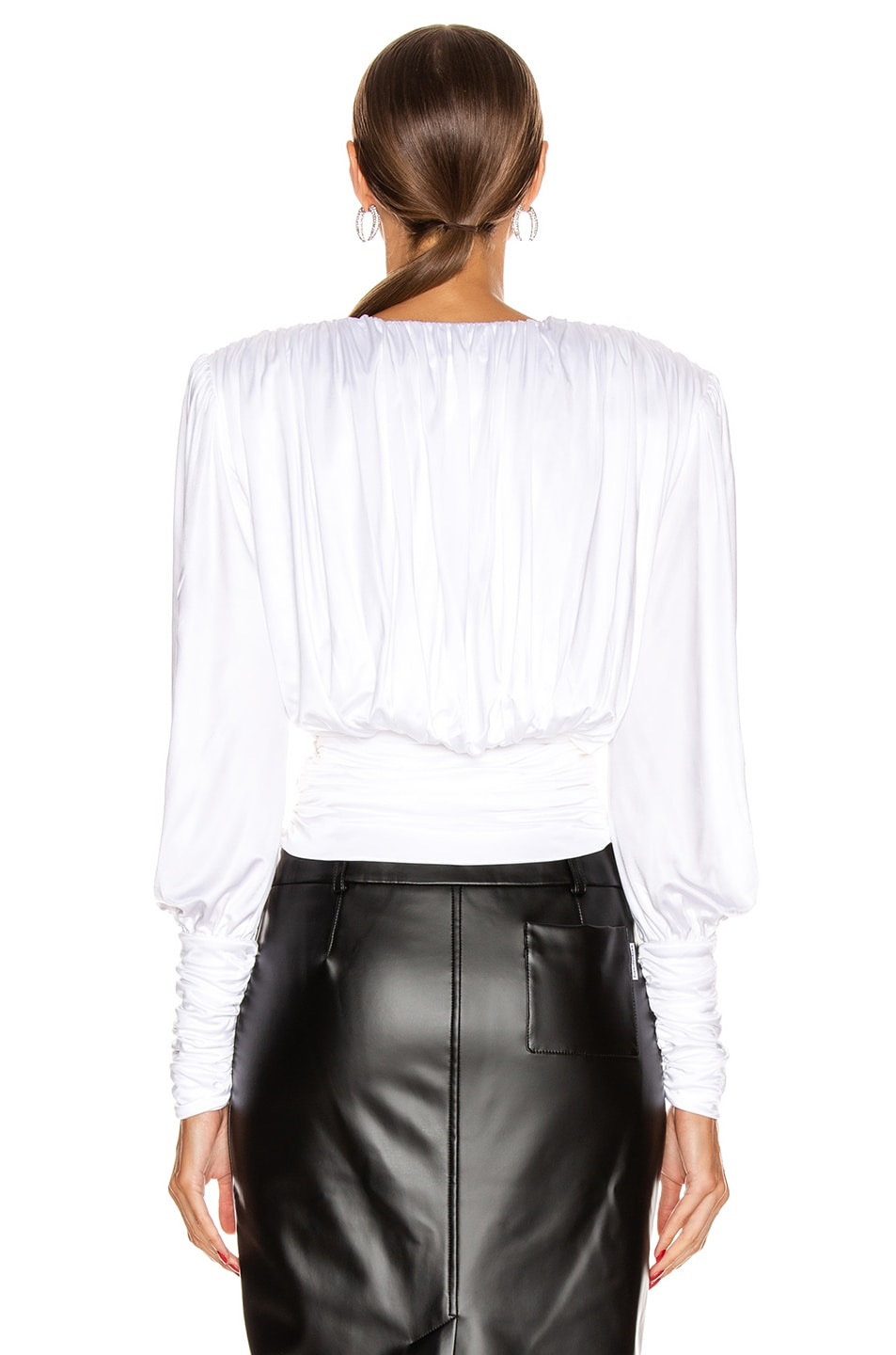 Image 4 of Redemption Draped Top in White