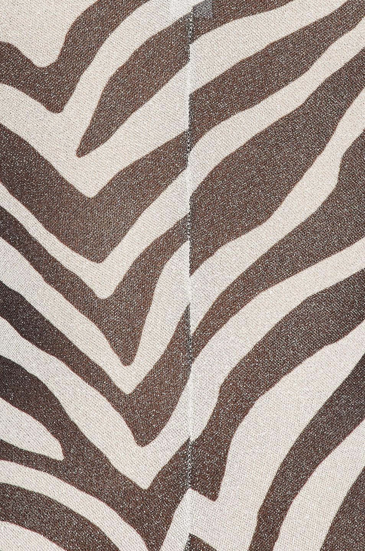 Image 6 of Redemption Zebra Puff Sleeve Bodysuit in Zebra Black & White