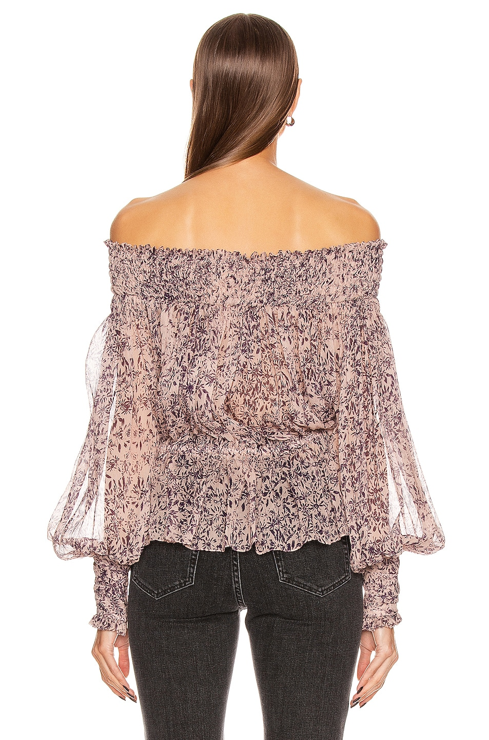 Image 3 of Redemption Pintuck Bare Shoulder Top in Campione