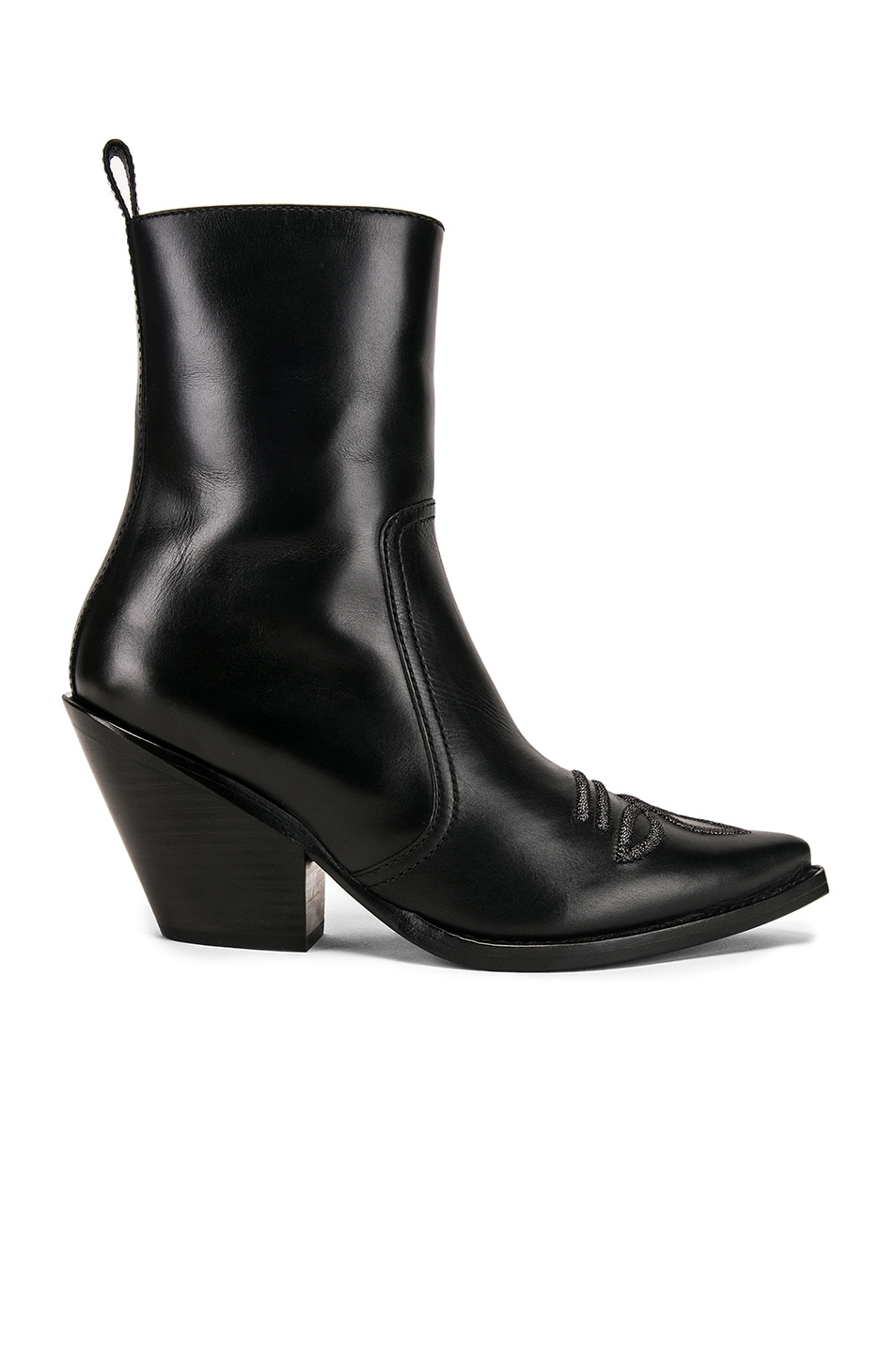 Image 1 of Redemption Ankle Boot with Embroidery in Black