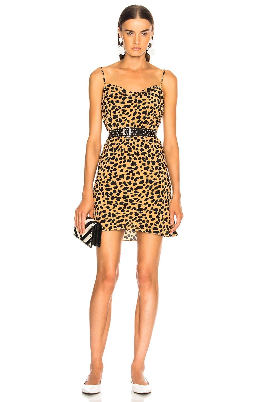 Image 1 of RIXO Twiggy Mini Dress in Spot Leopard