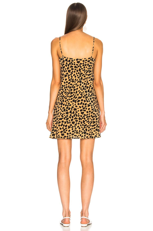 Image 4 of RIXO Twiggy Mini Dress in Spot Leopard