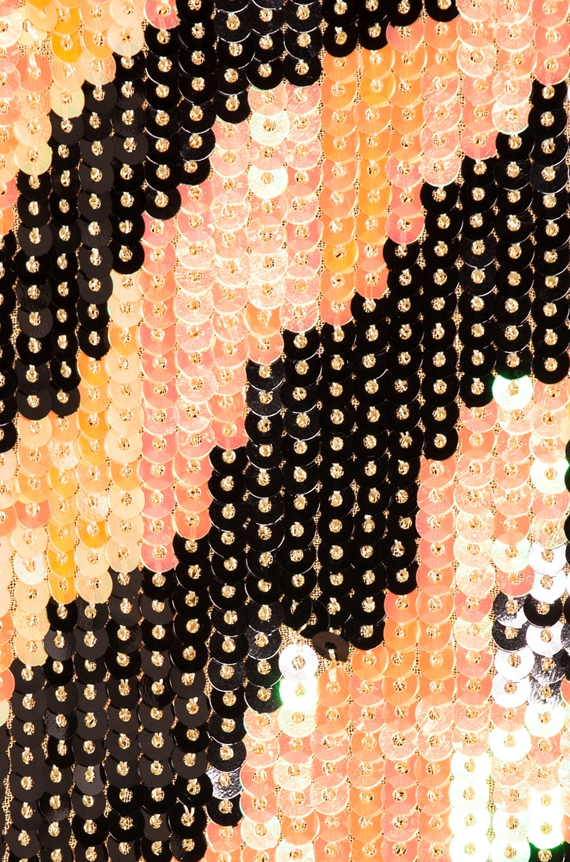 Image 5 of RIXO Gigi Sequin Dress in Mustard Tiger