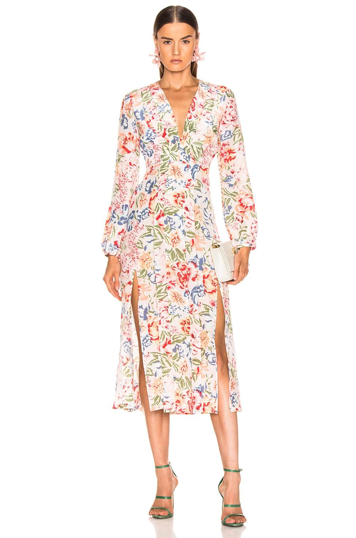 Image 1 of RIXO Camellia Dress in Diana Floral Peach