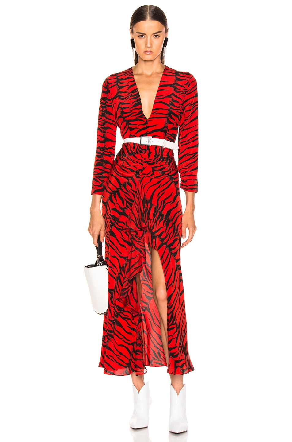 Image 1 of RIXO Rose Dress in Red Tiger