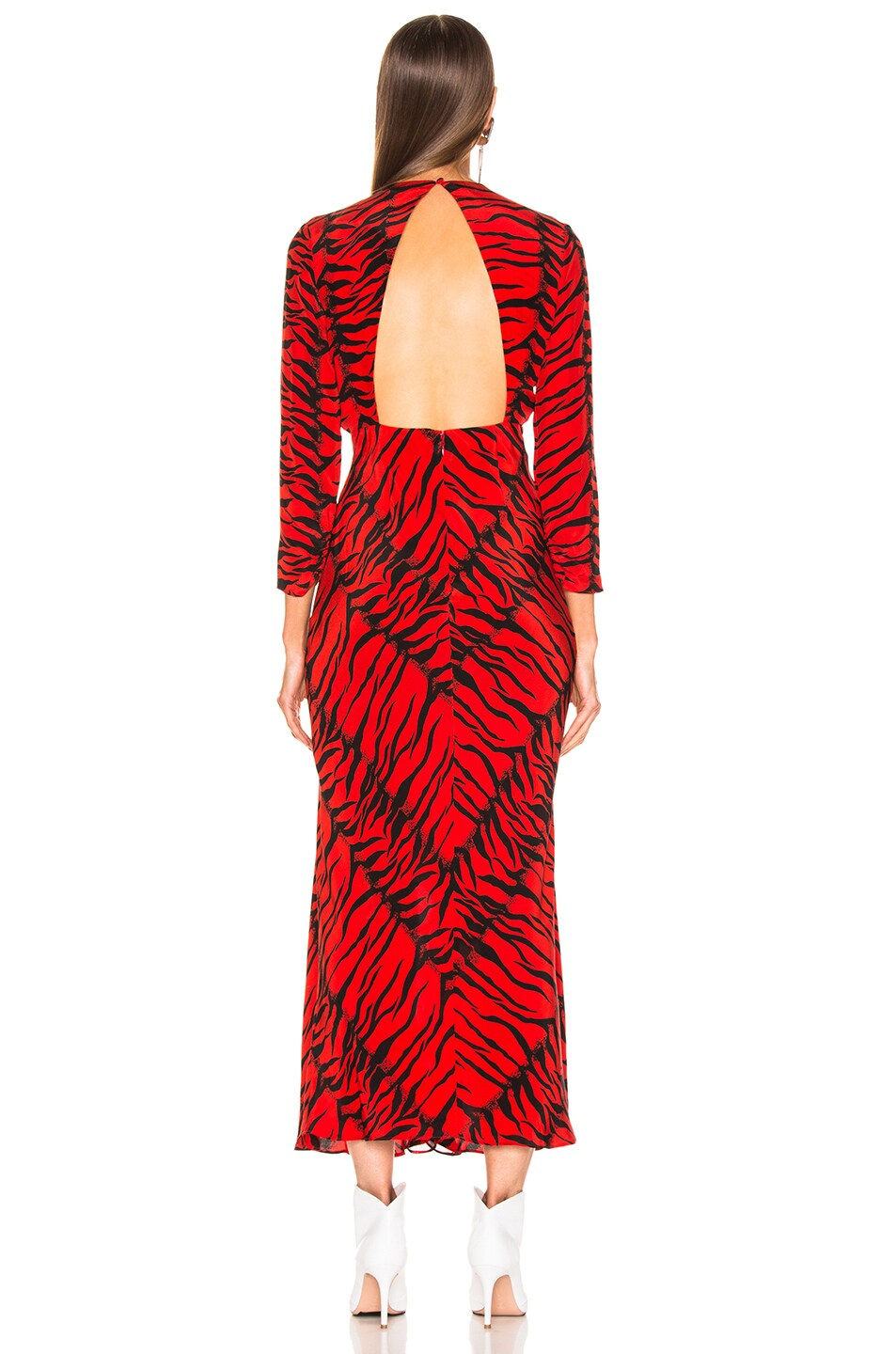 Image 3 of RIXO Rose Dress in Red Tiger