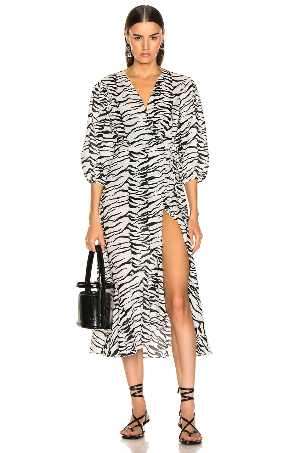 Image 1 of RIXO Noleen Dress in Mono Tiger
