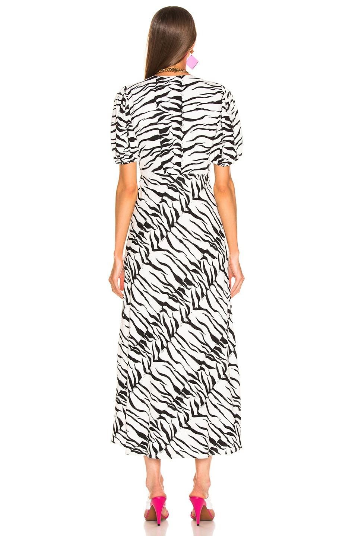 Image 3 of RIXO Tonya Dress in White Black Tiger