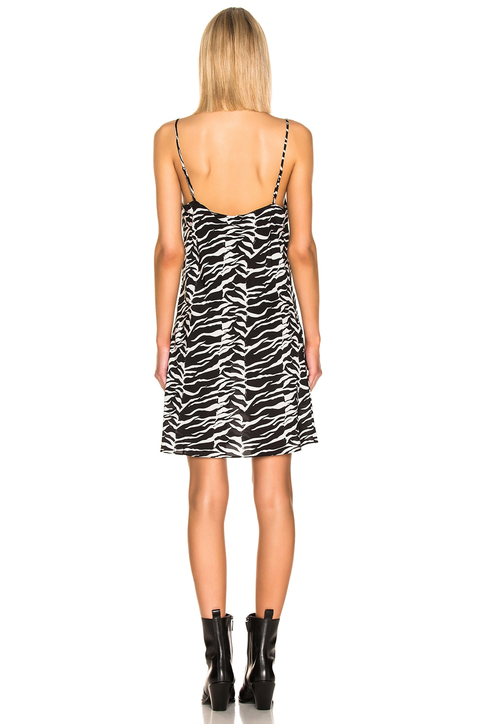 Image 3 of RIXO Twiggy Dress in Black White Tiger