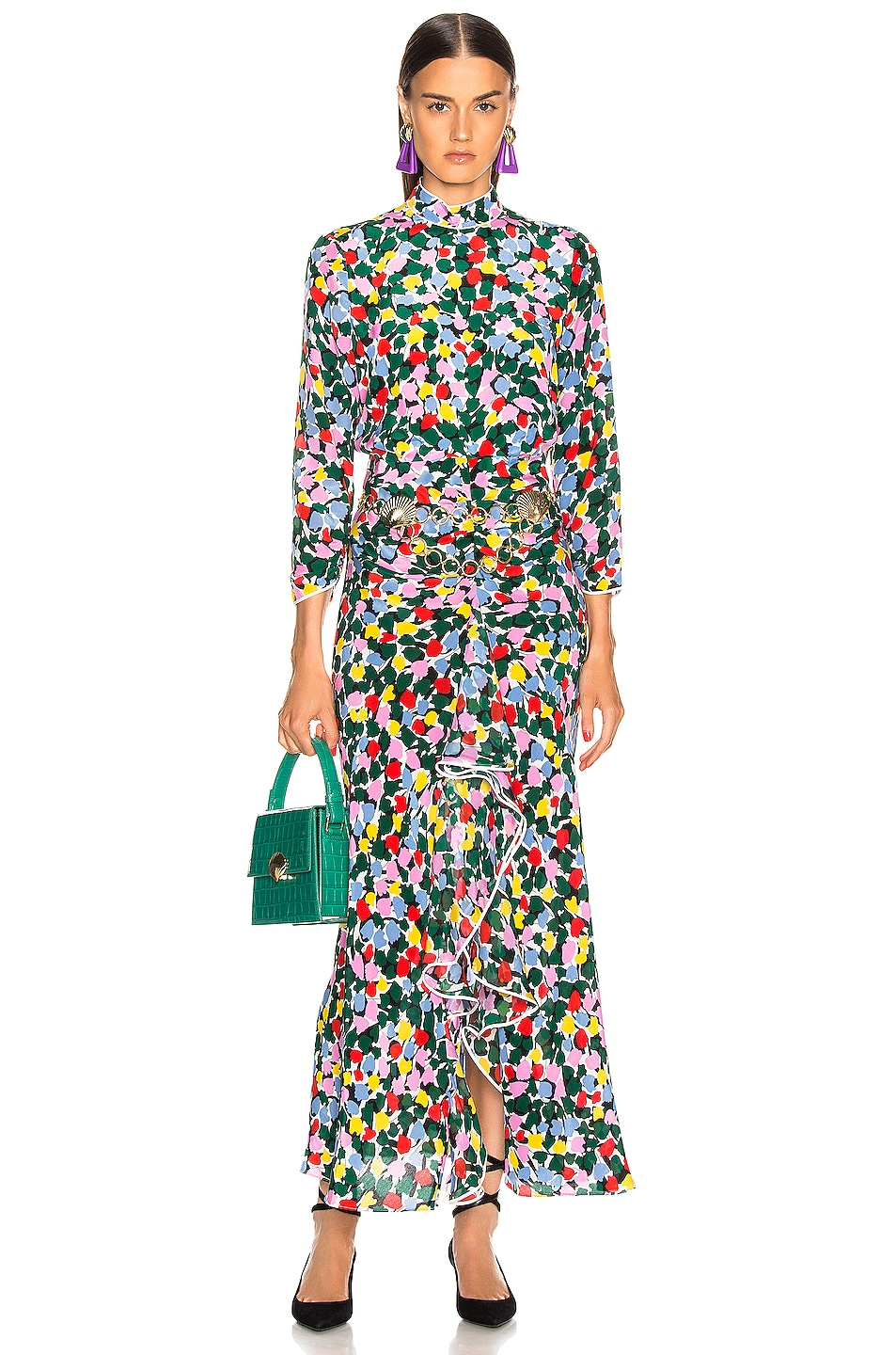 Image 1 of RIXO Lucy Dress in Camouflage Micro Tulip