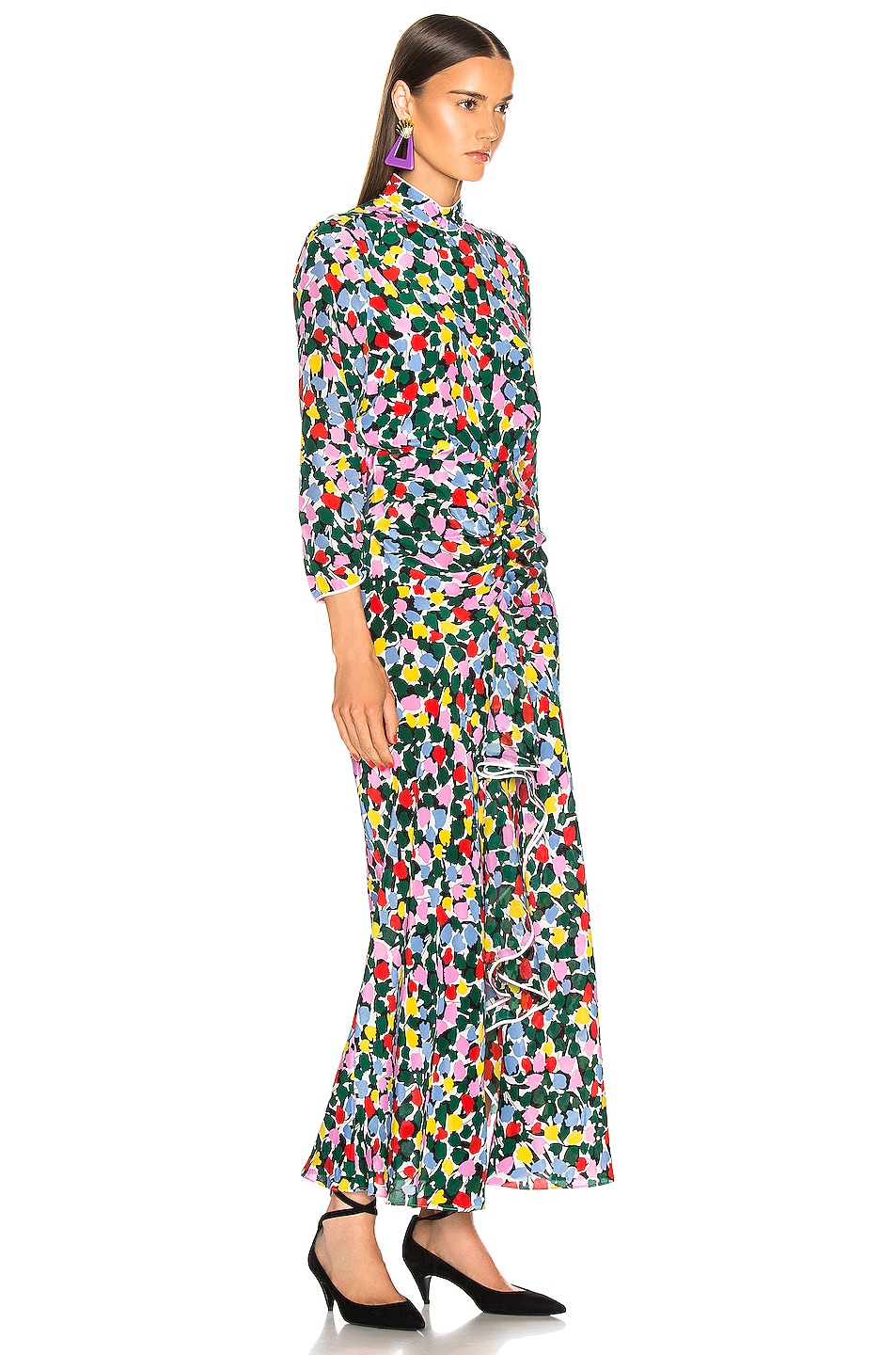 Image 2 of RIXO Lucy Dress in Camouflage Micro Tulip