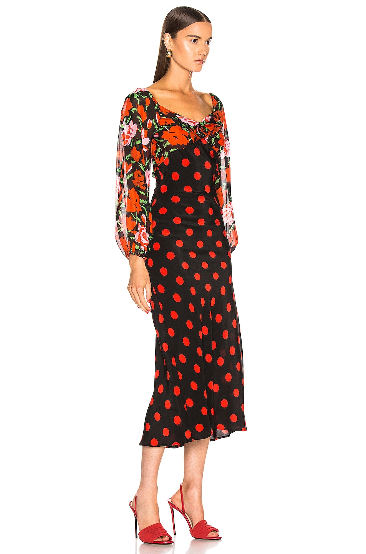 Image 2 of RIXO Josephine Dress in Large Rose Polka Dot