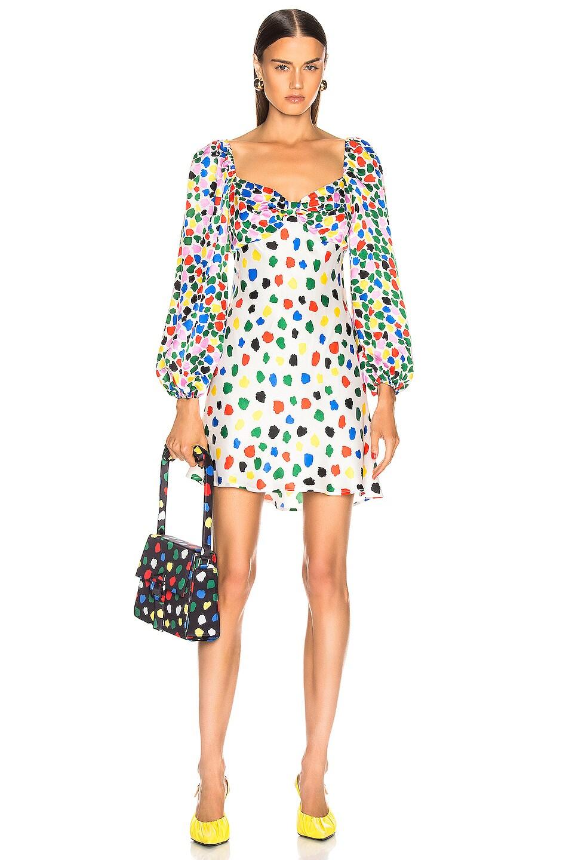 Image 1 of RIXO Paris Dress in Micro Tulip Black Multi