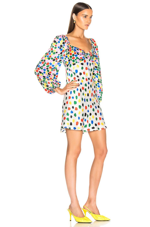 Image 2 of RIXO Paris Dress in Micro Tulip Black Multi