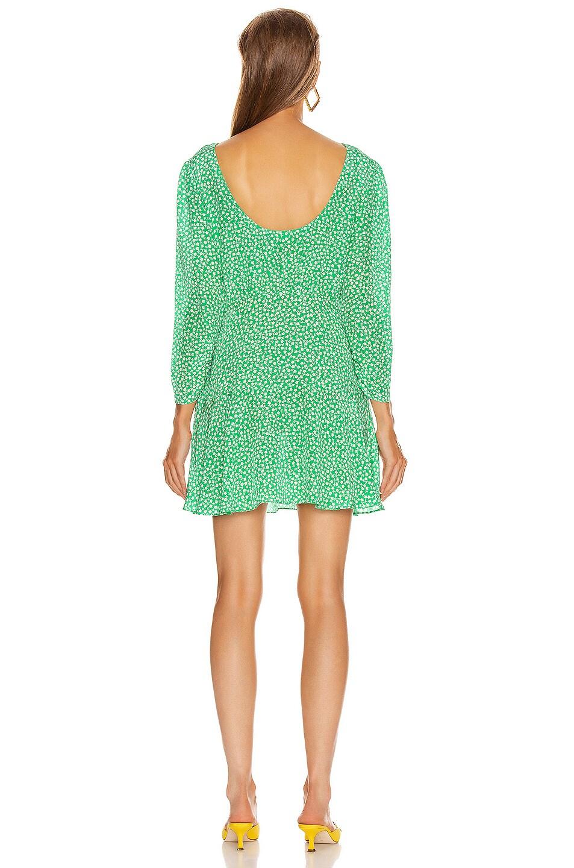 Image 3 of RIXO Kyla Mini Dress in Retro Micro Floral & Green Blue