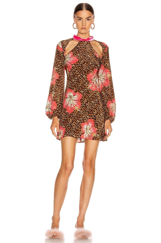Image 1 of RIXO Dalia Dress in Hawaii Giraffe