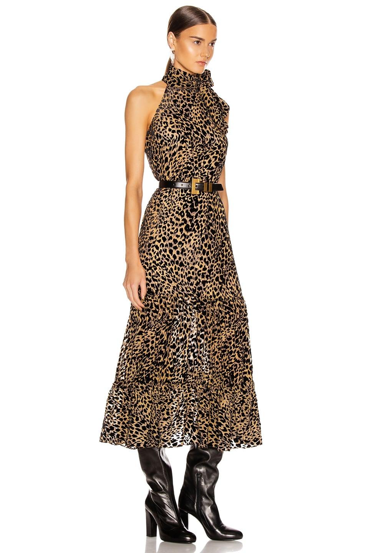 Image 2 of RIXO Eleanor Dress in Leopard Burnout