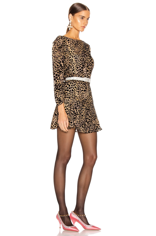 Image 2 of RIXO Clarisse Dress in Leopard Burnout