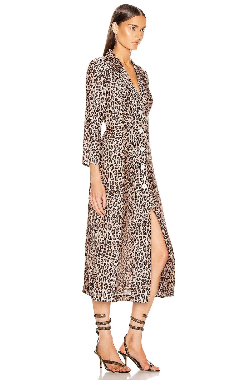 Image 3 of RIXO Sienna Dress in Leopard