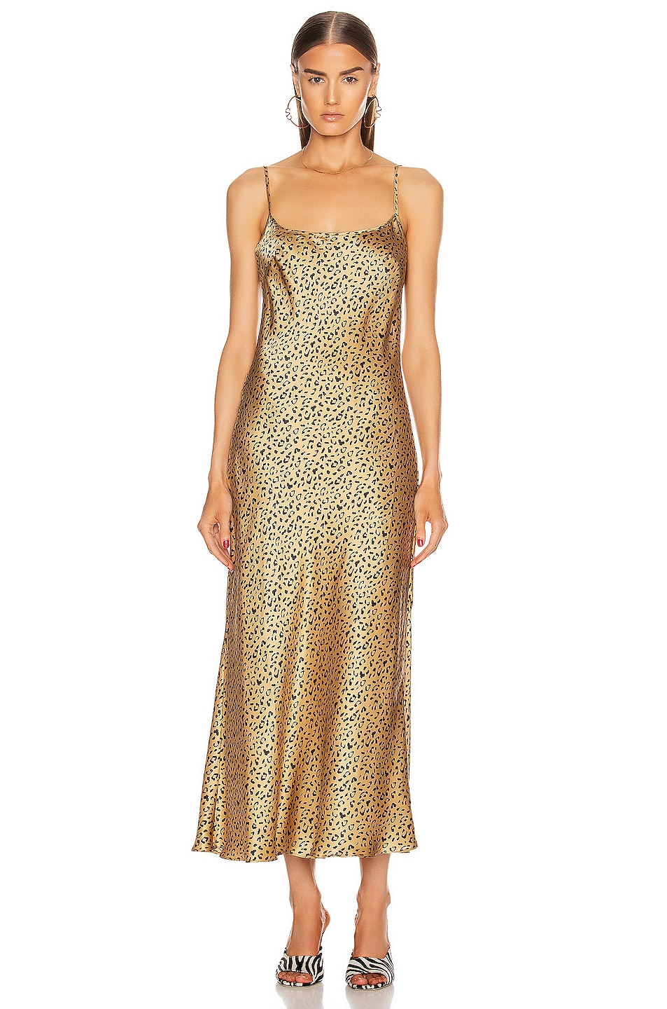 Image 2 of RIXO Holly Dress in Leopard Gold & Black