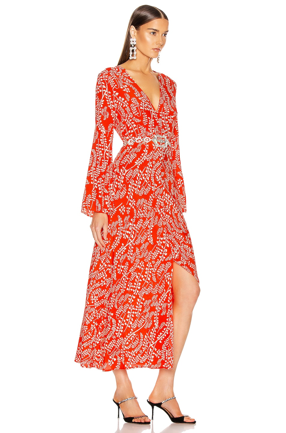 Image 2 of RIXO Sonja Dress in Tree Roots Red