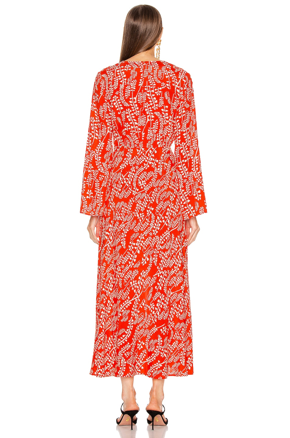 Image 3 of RIXO Sonja Dress in Tree Roots Red