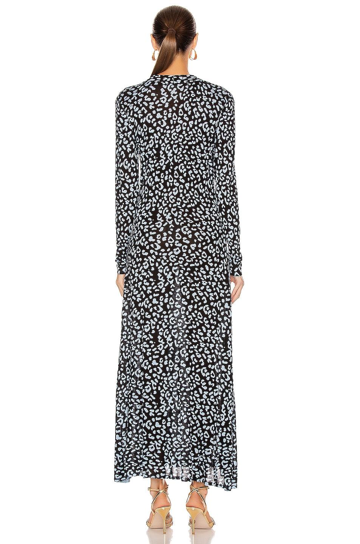 Image 4 of RIXO Anja Dress in Blue Leopard