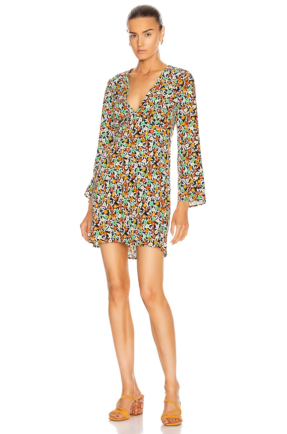 Image 2 of RIXO Sophie Dress in Retro Micro Floral