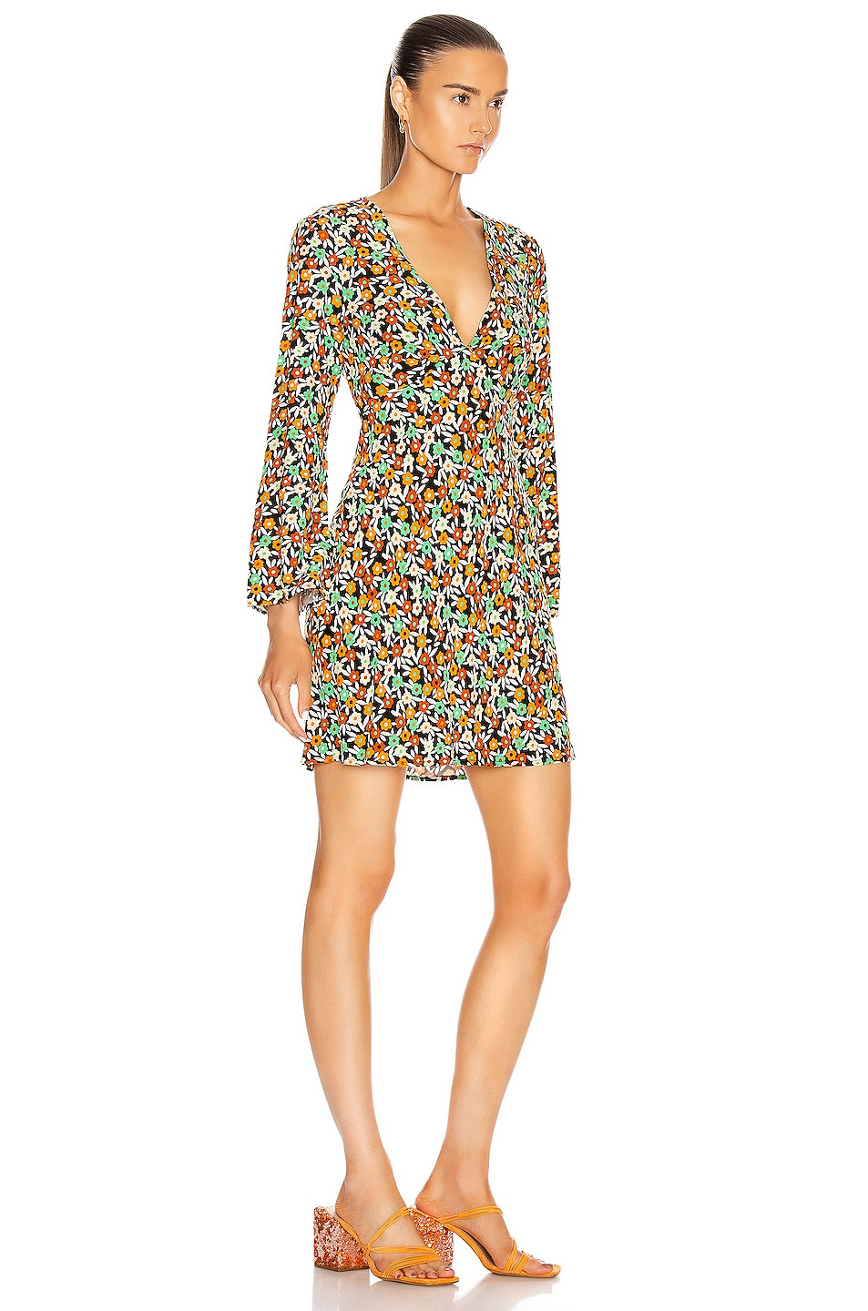Image 3 of RIXO Sophie Dress in Retro Micro Floral