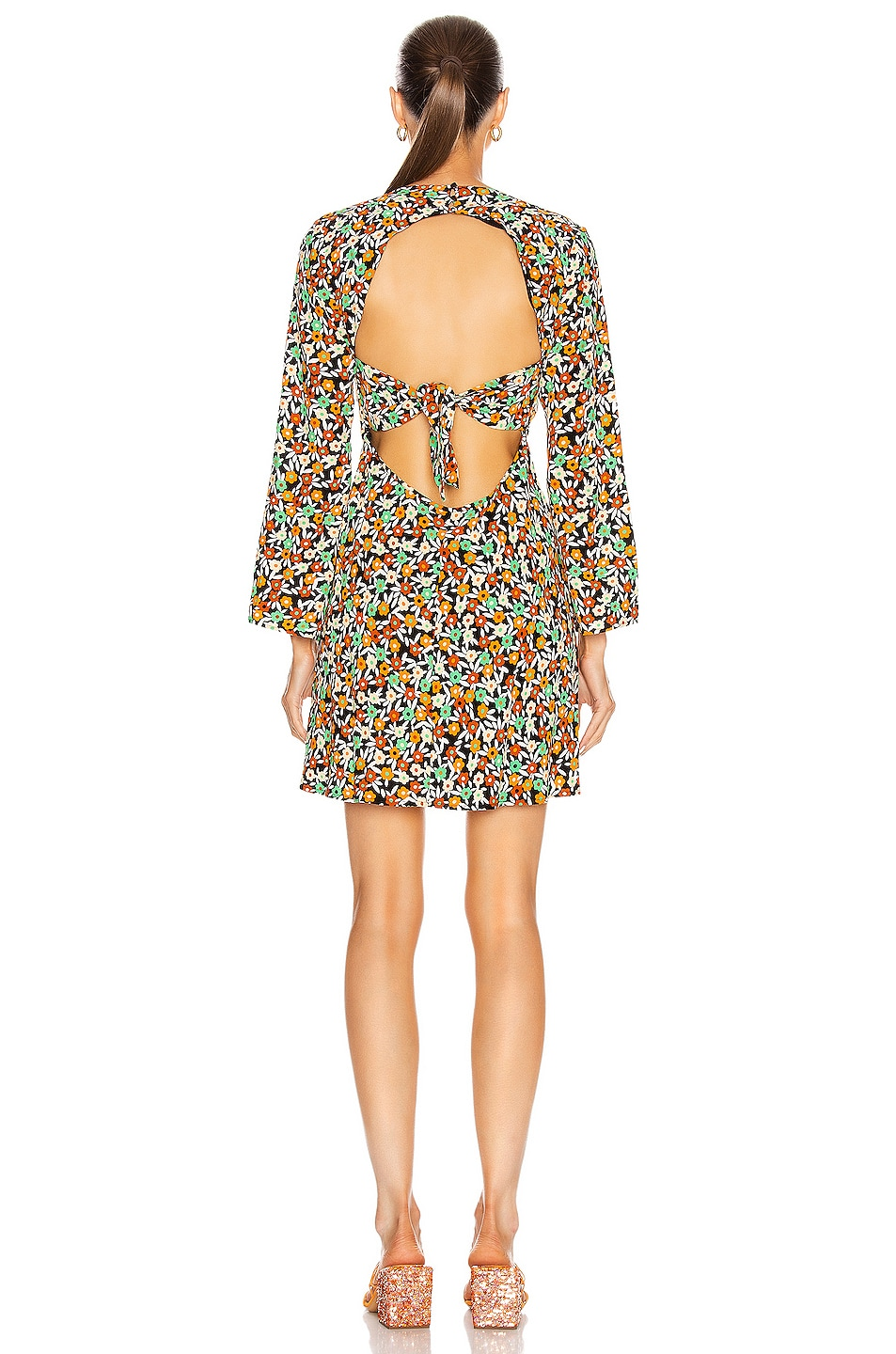 Image 4 of RIXO Sophie Dress in Retro Micro Floral