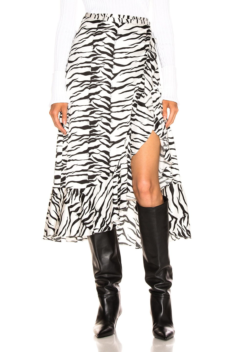 Image 1 of RIXO Gracie Skirt in Mono Tiger