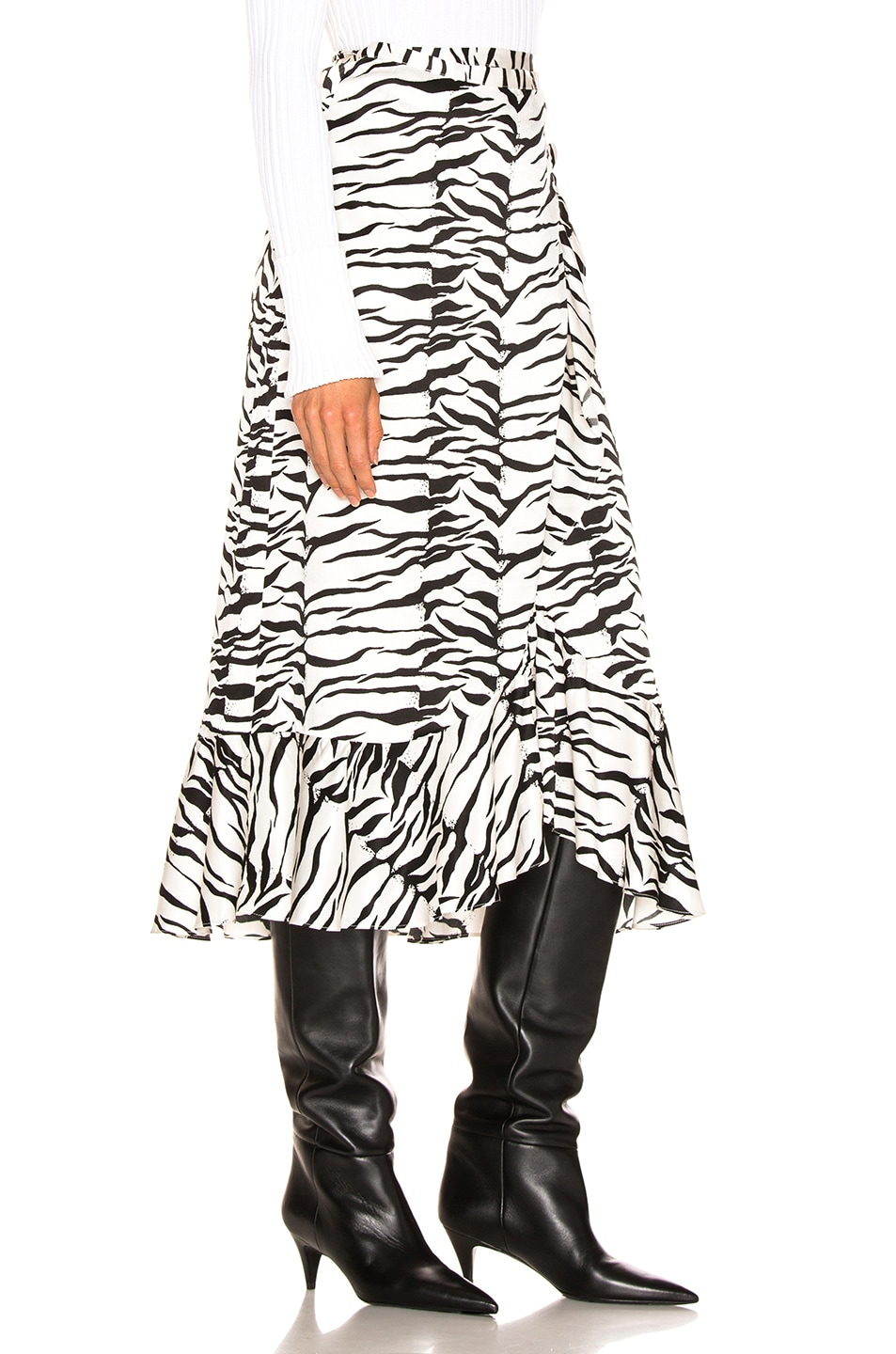 Image 2 of RIXO Gracie Skirt in Mono Tiger