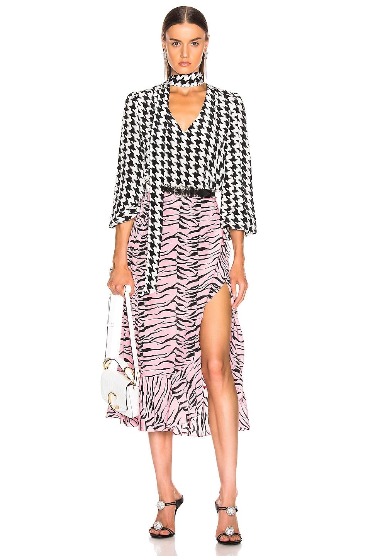 Image 4 of RIXO Gracie Skirt in Pink Black Tiger