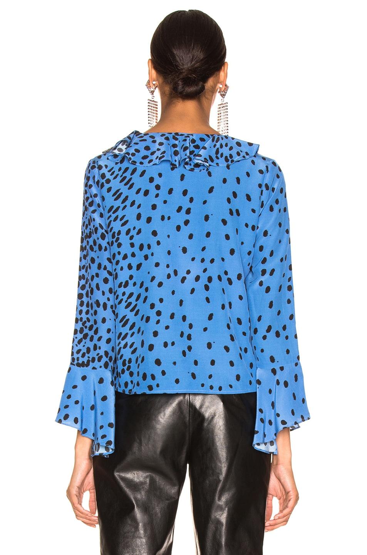 Image 3 of RIXO Jane Top in Blue Leopard
