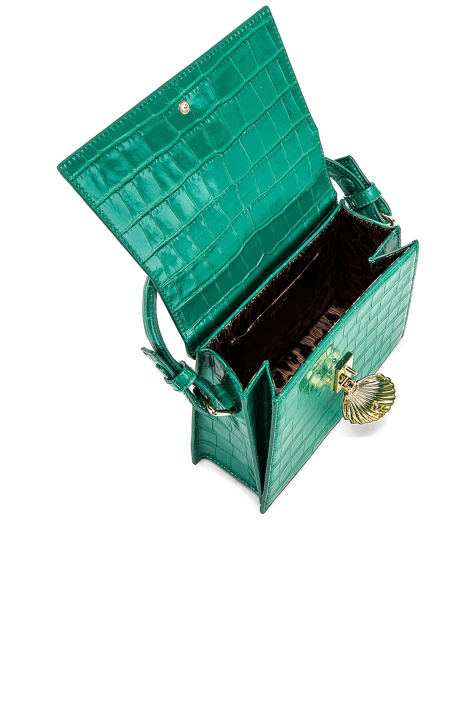 Image 5 of RIXO Jemima Bag in Emerald Croc Leather