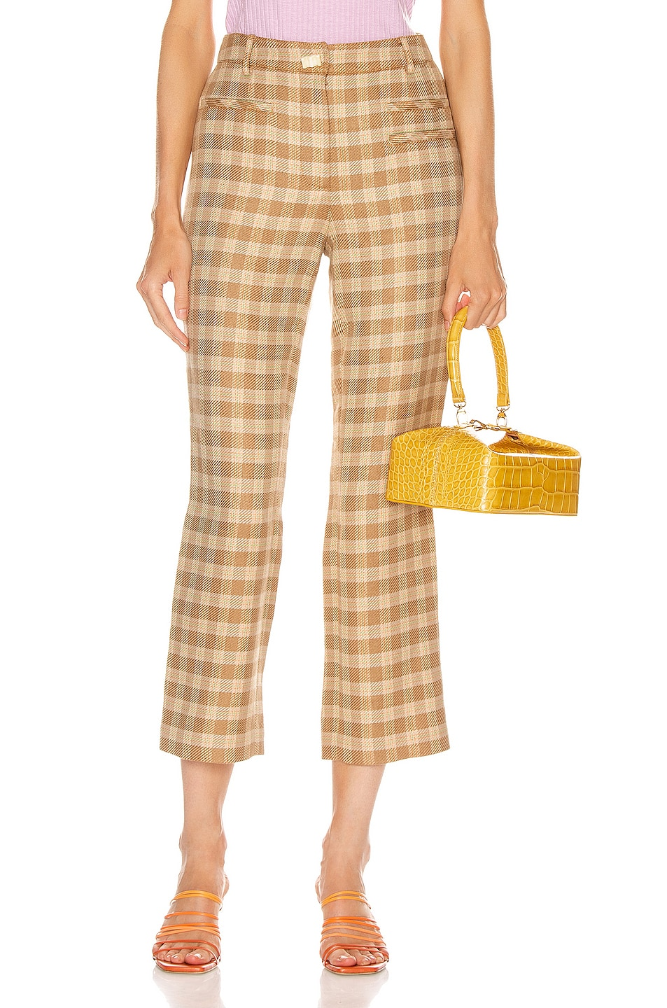 Image 1 of REJINA PYO Finley Trousers in Camel, Orange & Green