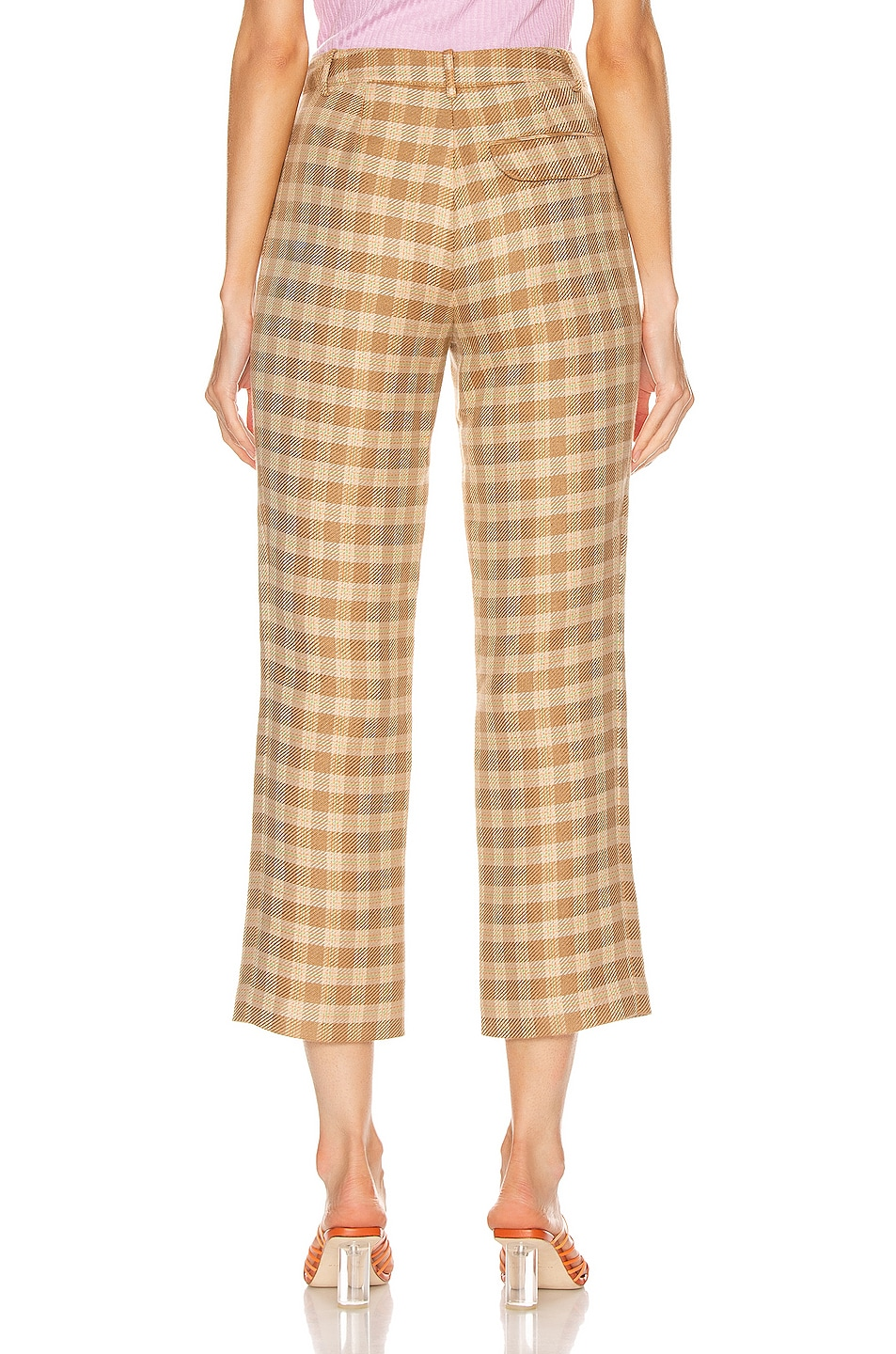 Image 3 of REJINA PYO Finley Trousers in Camel, Orange & Green