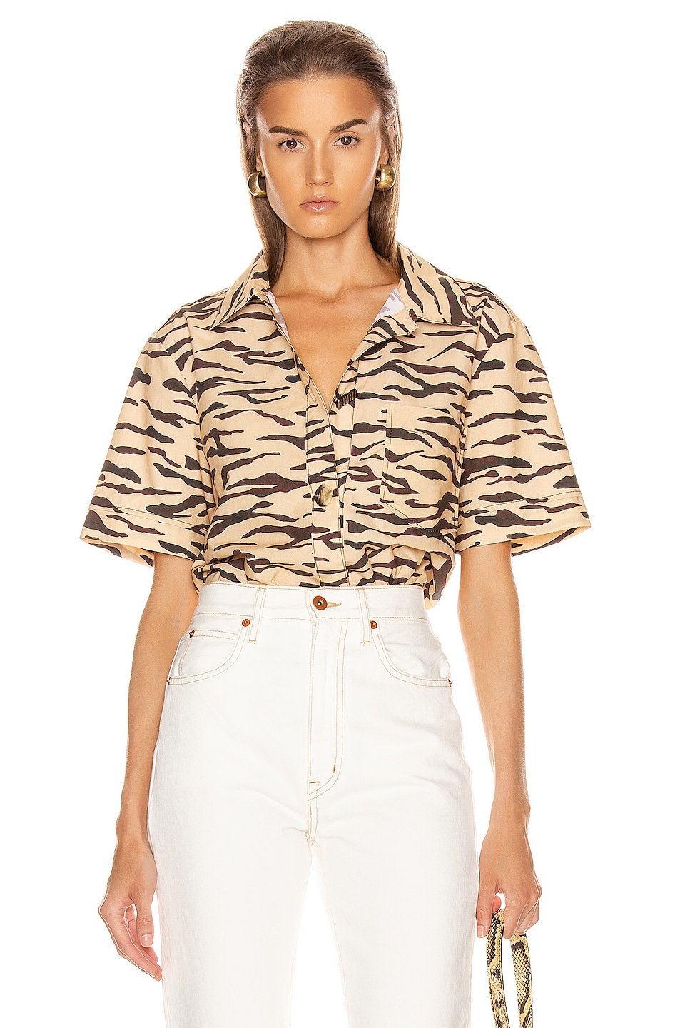 Image 1 of REJINA PYO Nico Shirt in Tiger Beige