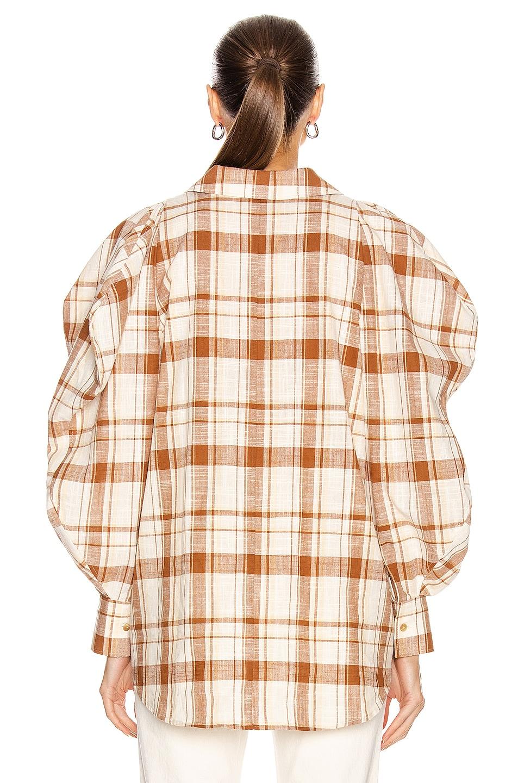 Image 3 of REJINA PYO Julia Shirt in Check Brown