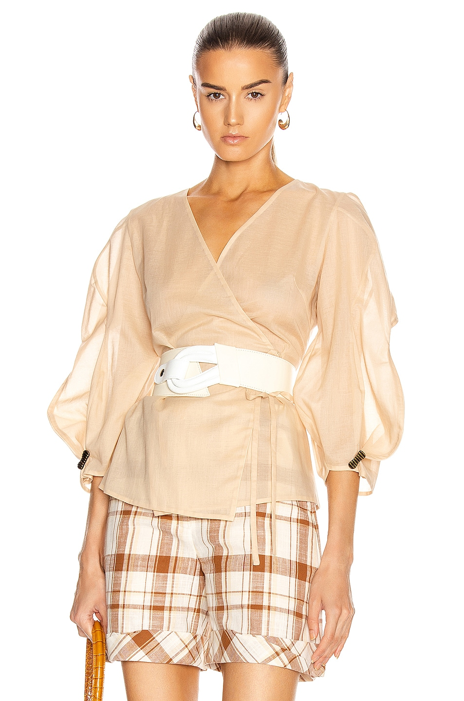 Image 1 of REJINA PYO Mia Top in Taupe
